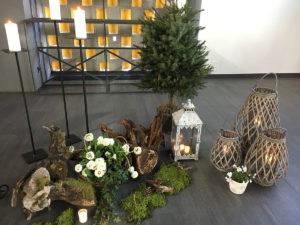 Trauerschmuck in Kapelle