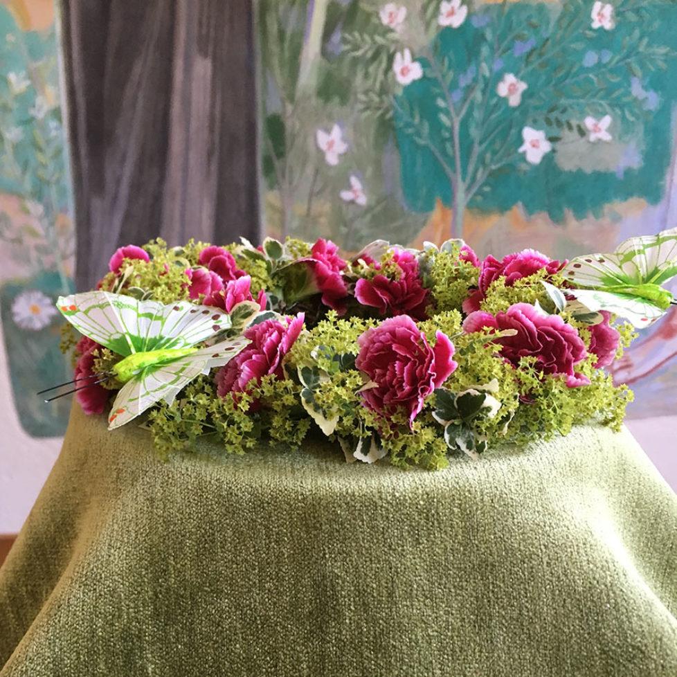 Kranz aus Blumen